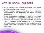 actual social support
