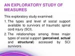 an exploratory study of measures