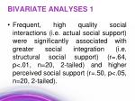 bivariate analyses 1