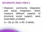bivariate analyses 2