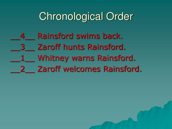 Chronological Order