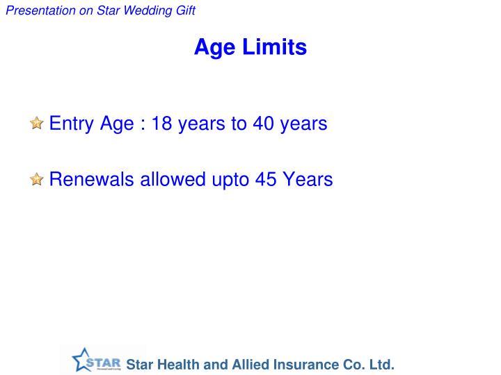 Age Limits