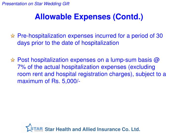 Allowable Expenses (Contd.)