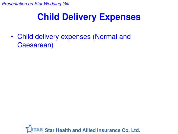 Child delivery expenses