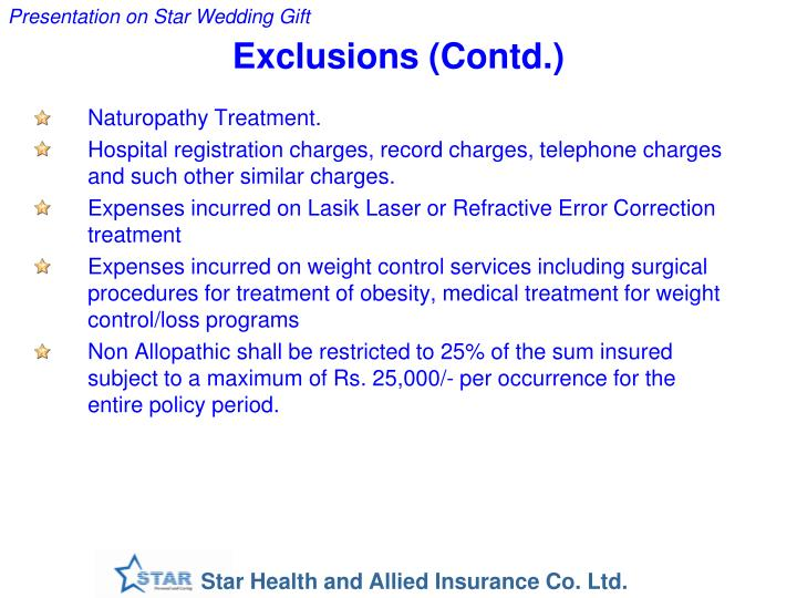 Exclusions (Contd.)