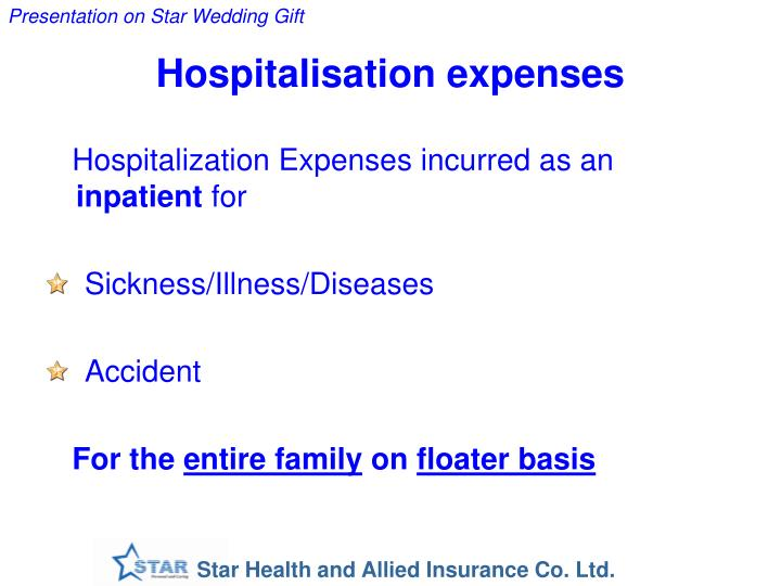 Hospitalisation expenses