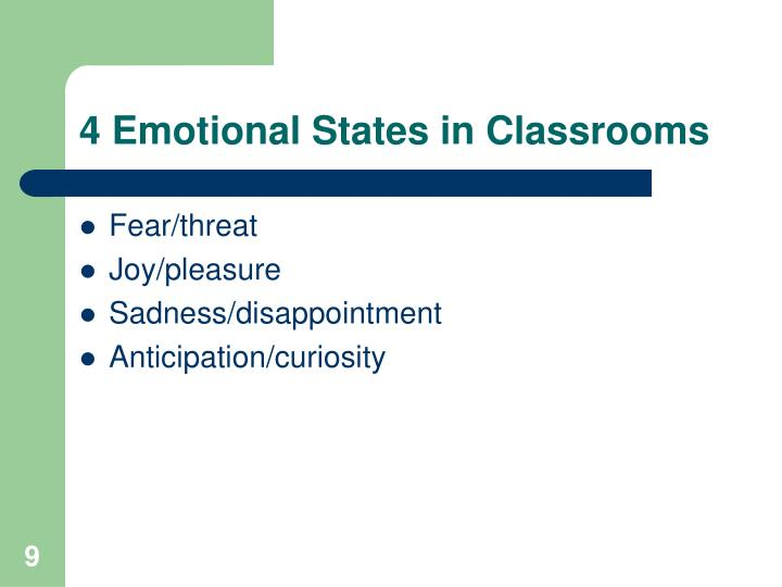 4 Emotional States in Classrooms