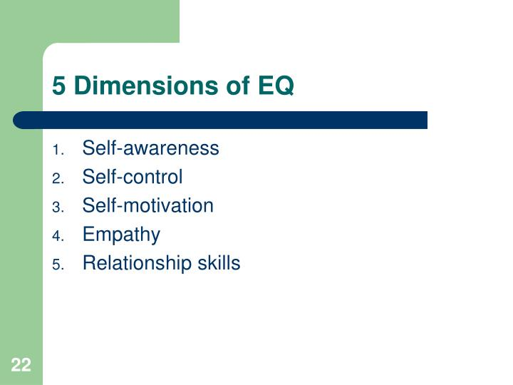 5 Dimensions of EQ