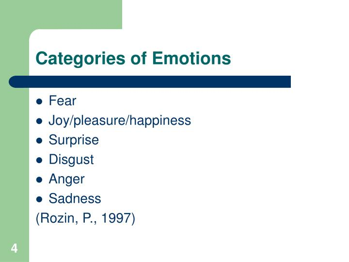 Categories of Emotions