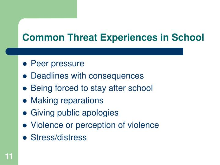 Common Threat Experiences in School
