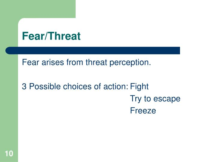 Fear/Threat