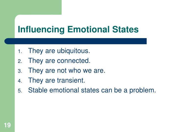 Influencing Emotional States