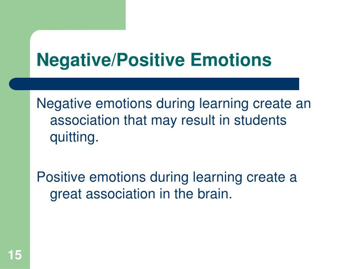 Negative/Positive Emotions