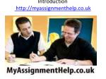 introduction http myassignmenthelp co uk