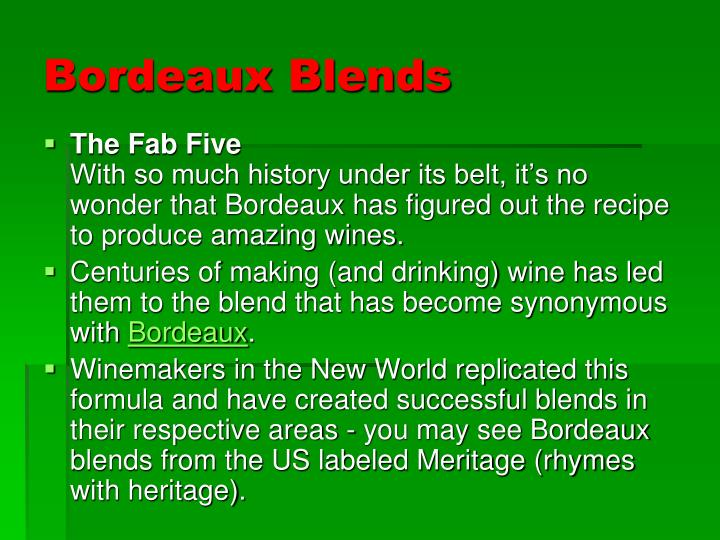 Bordeaux Blends