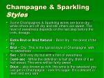 champagne sparkling styles