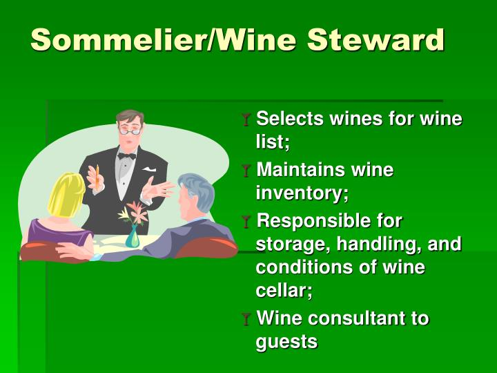 Sommelier/Wine Steward
