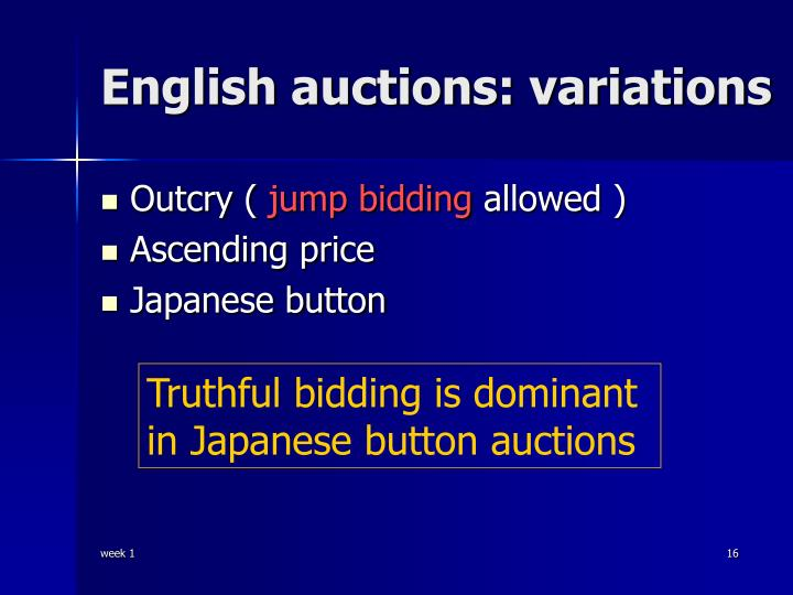 English auctions: variations