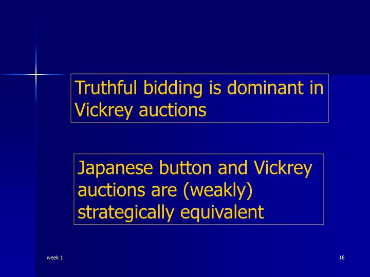 Truthful bidding is dominant in Vickrey auctions