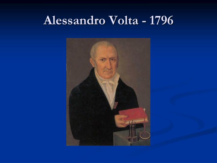 Alessandro Volta - 1796