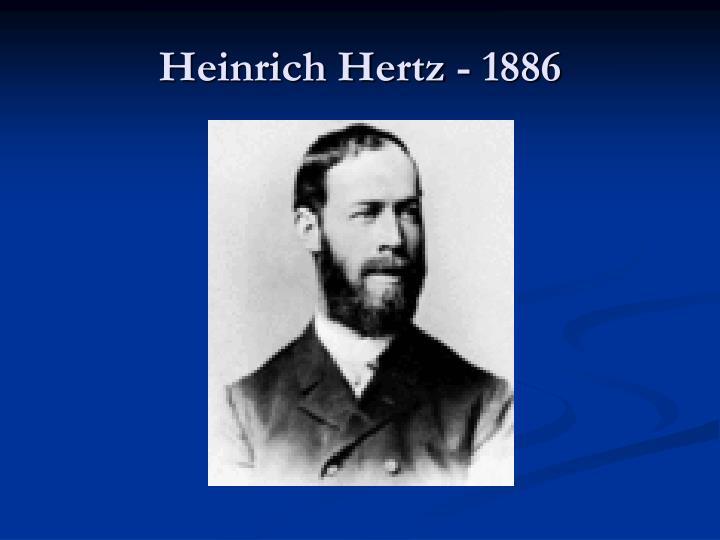 Heinrich Hertz - 1886