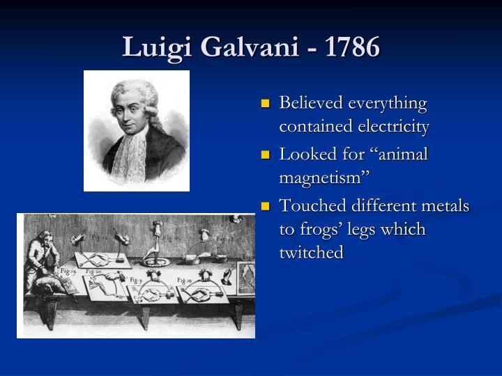 Luigi Galvani - 1786