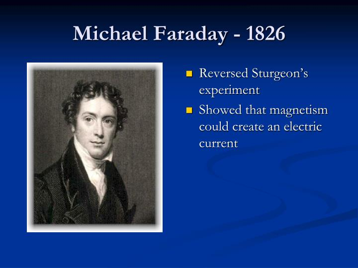Michael Faraday - 1826