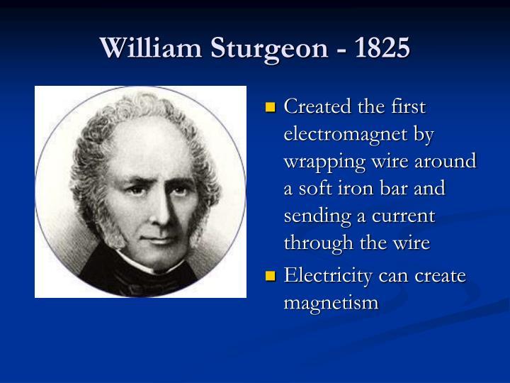 William Sturgeon - 1825