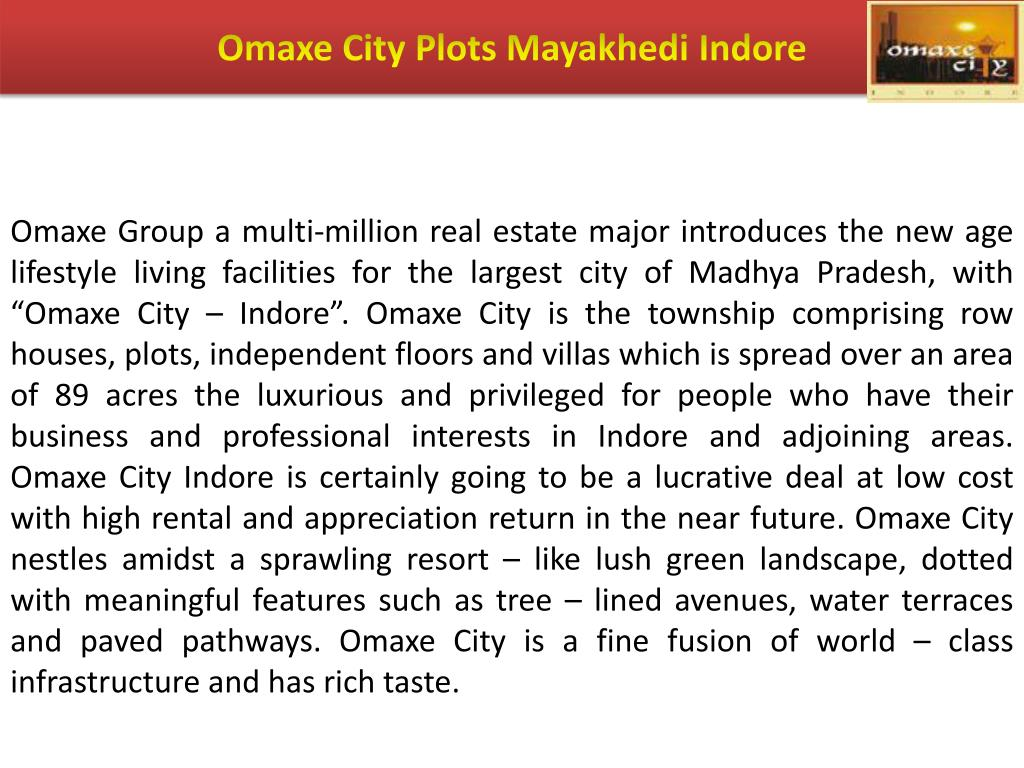 Omaxe City Plots Mayakhedi Indore