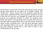 omaxe city plots mayakhedi indore