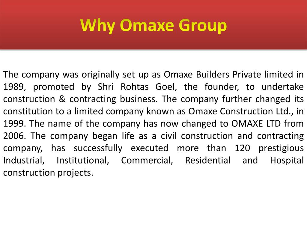 Why Omaxe Group