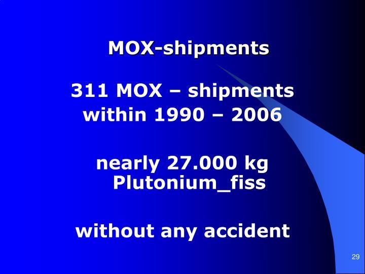MOX-shipments