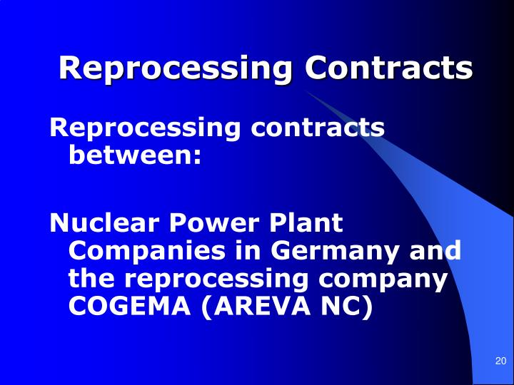 Reprocessing Contracts