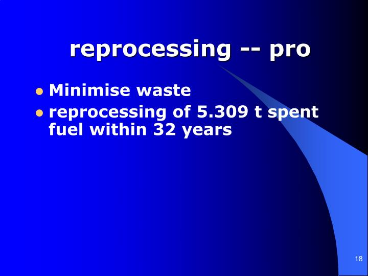 reprocessing -- pro