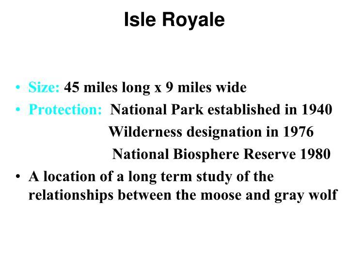 Isle Royale