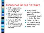 conciliation bill and its failure