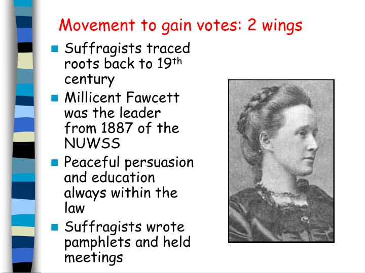 Movement to gain votes: 2 wings