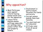 why opposition