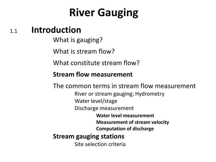 River gauging