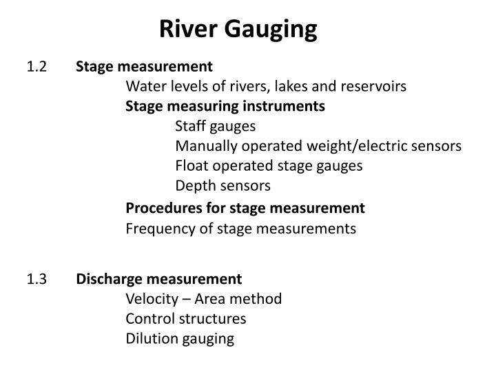 River gauging1