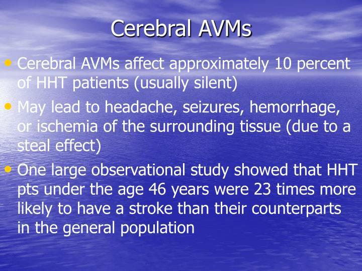 Cerebral AVMs
