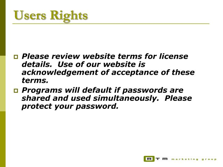 Users Rights