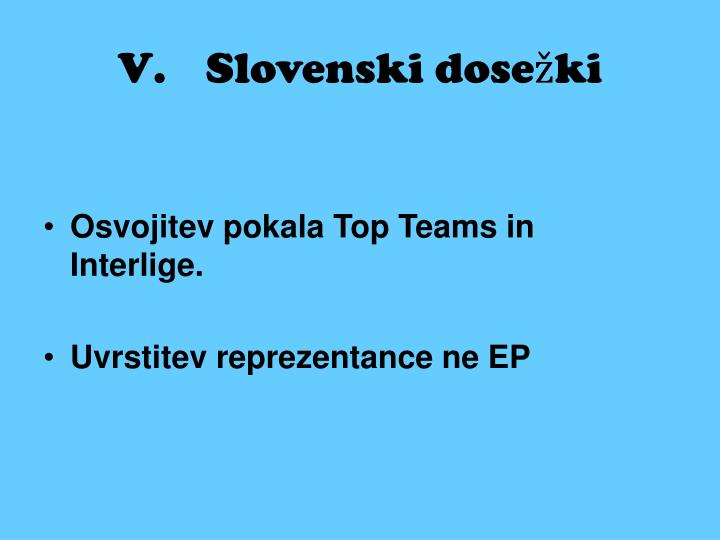 Slovenski dosežki