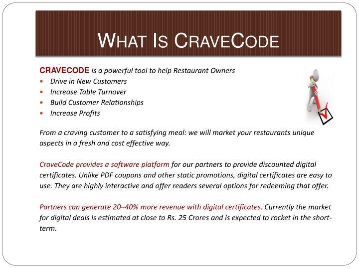 What Is CraveCode