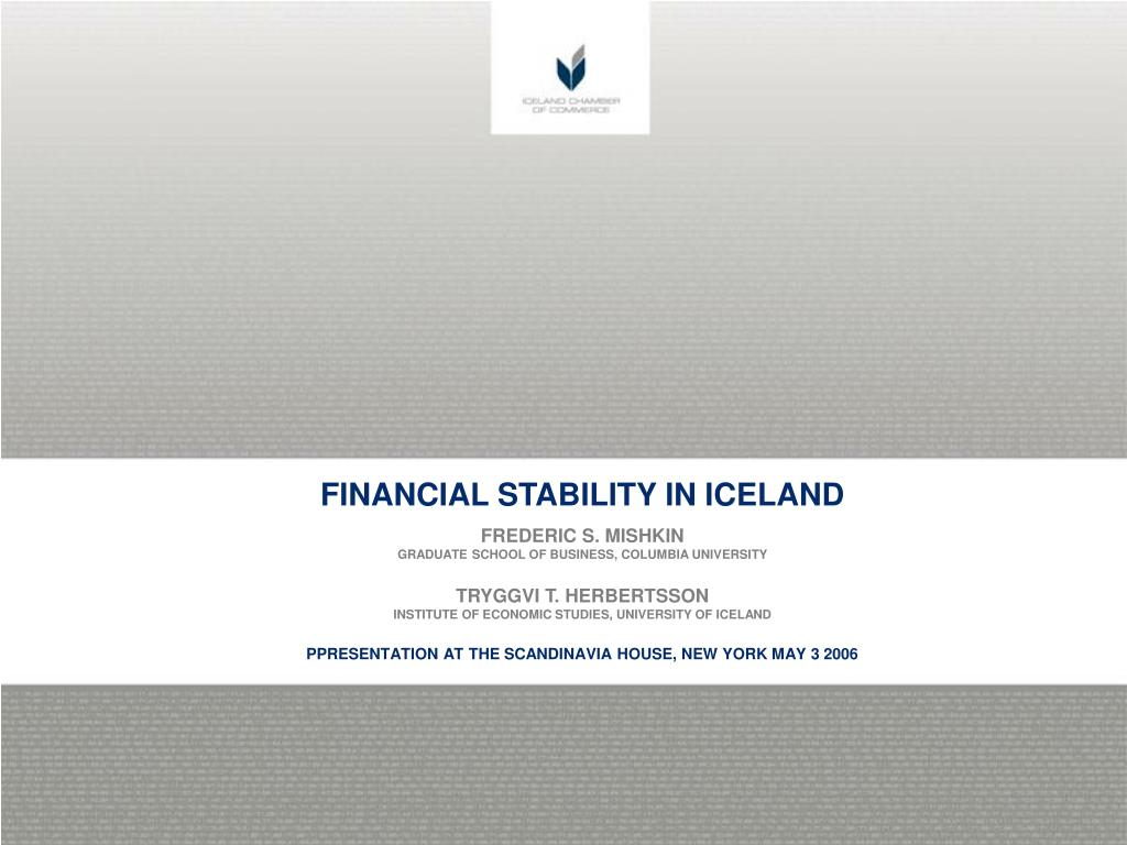 FINANCIAL STABILITY IN ICELAND