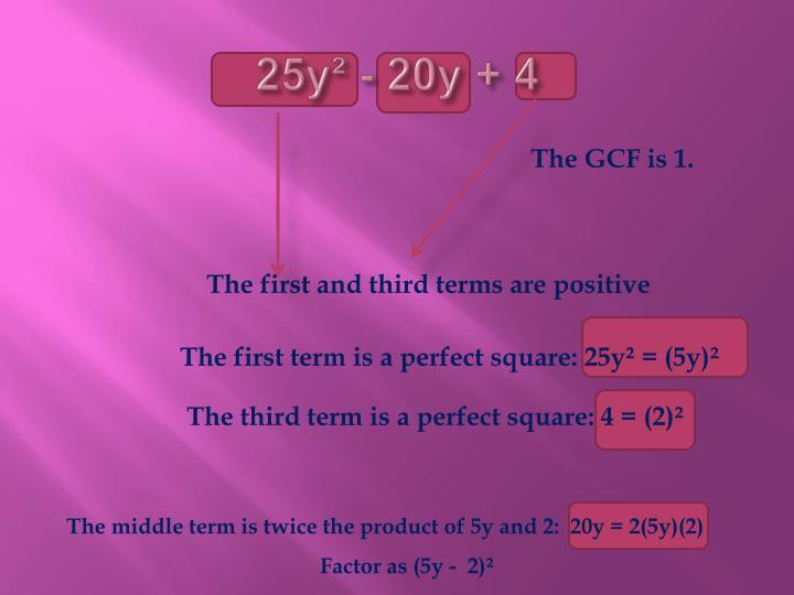 25y² - 20y + 4