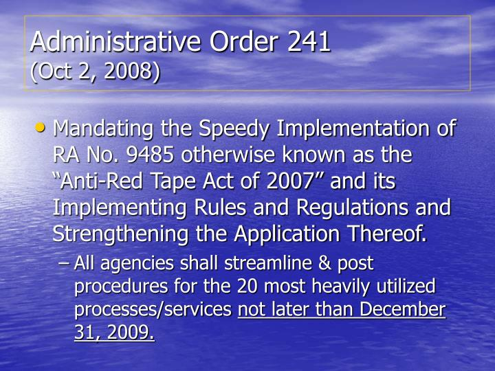 Administrative Order 241