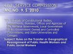 civil service commission mc no 9 s 2010