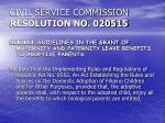 civil service commission resolution no 020515