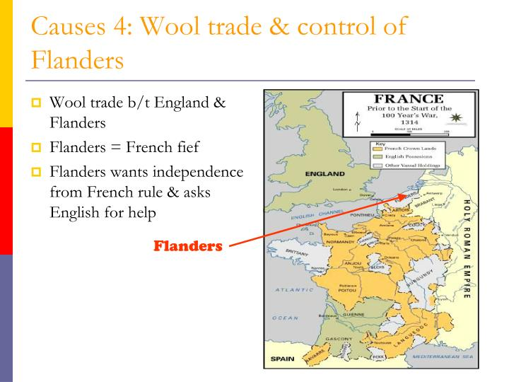 Causes 4: Wool trade & control of Flanders